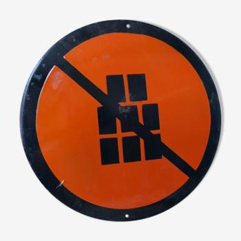 Plaque émaillée signalétique d'usine russe