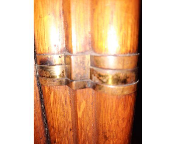 Paravent bois et cuir de cordou