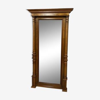 mirror of between two walnut a patina honey around 1900