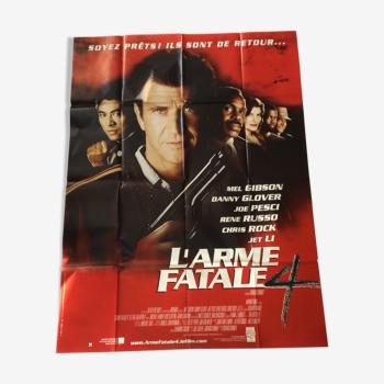 """Affiche du film """" L'arme fatale 4 """""""