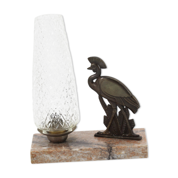 Lampe art déco  marbre emeu