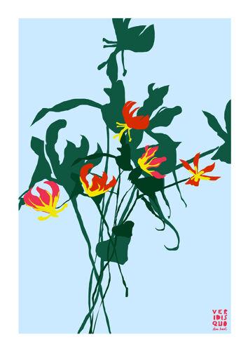 Illustration Gloriosa en édition limitée, format A4 par Elisa Brouet