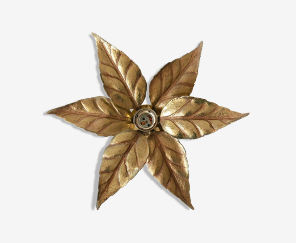 Applique florale de Willy Daro, style Hollywood Regency