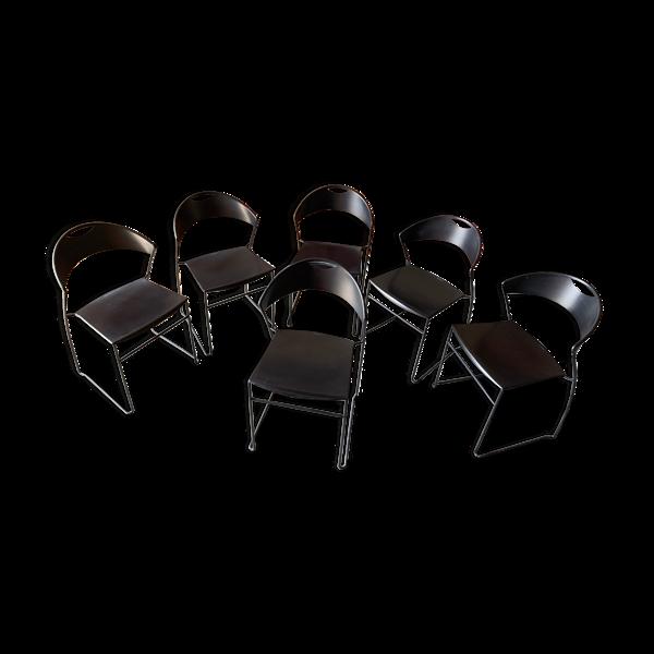 6 chaises Baleri, modèle Juliette - 1987 - Italie