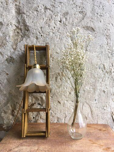 Lampe baladeuse tulipe verre fumé