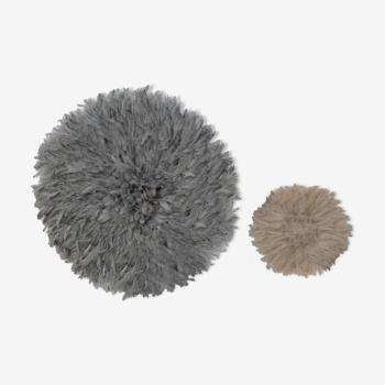 Ensemble de 2 juju hats gris et blanc