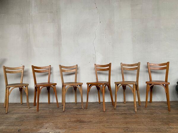 6 chaises bistrot baumann brasserie