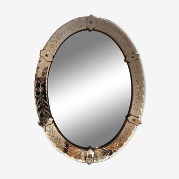 Miroir Vénitien ancien vers 1930 - 65x50cm