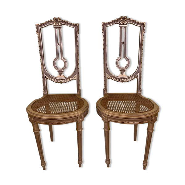 Selency Paire de chaises Lyre époque Louis XVI