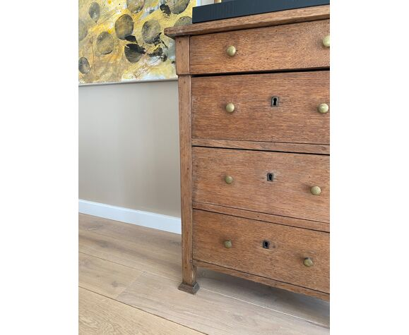 Meuble vintage en bois naturel