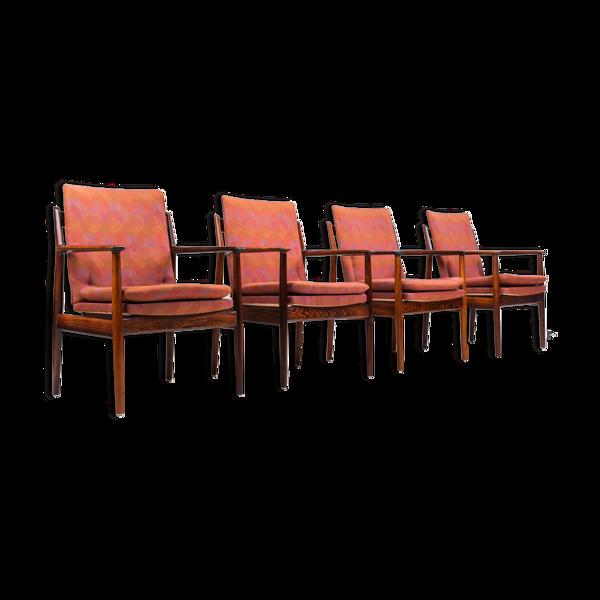 Lot de 4 fauteuils modèle 341 par Arne Vodder pour Sibast