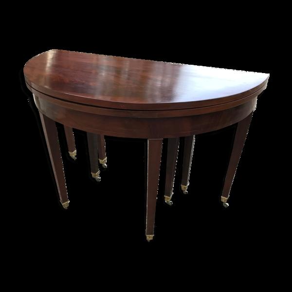 Table demi-lune style Louis XVI