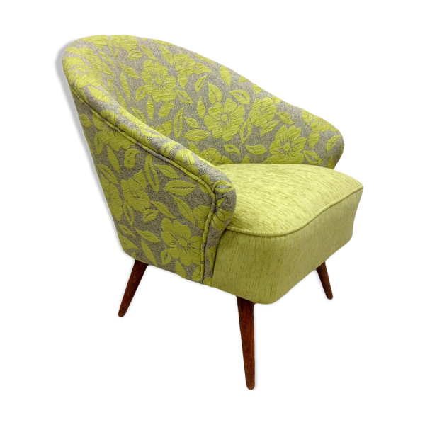 Green armchair with flowers 1960s