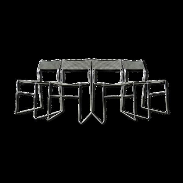 Selency Ensemble de 4 chaises à manger empilables, modèle Sultana, de la maison italienne Arrben International, années 1980