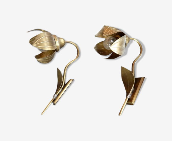 Set appliques tole italie en forme de fleur