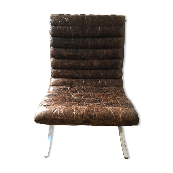 Fauteuil Andrew Martin cuir vielli