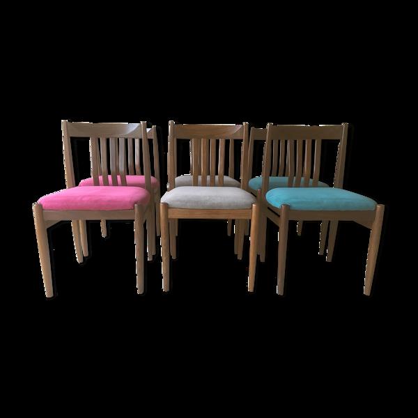 6 chaises scandinave teck 1960