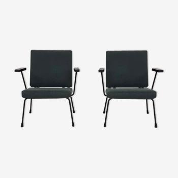 Paire de fauteuils modèle 1407 conçu par Wim Rietveld et Andre Cordemeyer pour Gispen en 1960