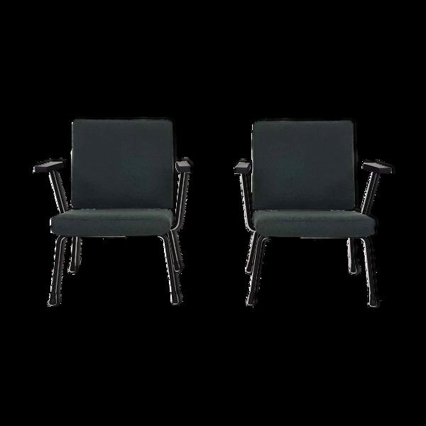 Selency Paire de fauteuils modèle 1407 conçu par Wim Rietveld et Andre Cordemeyer pour Gispen en 1960
