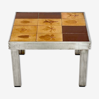 Table d'appoint Roger Capron, circa 1970