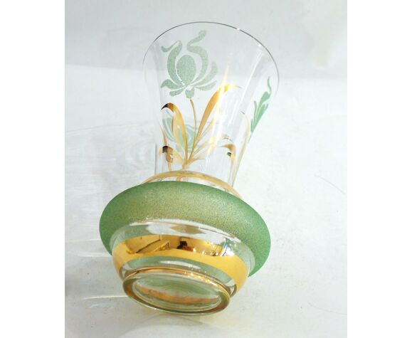 Vase cornet granité