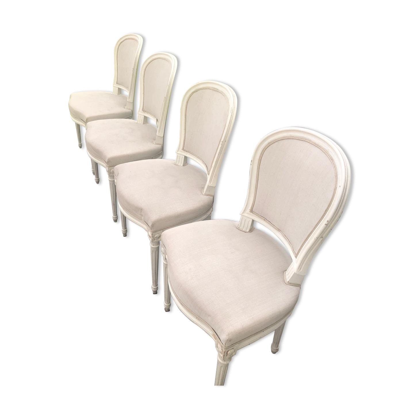 Lot de 4 chaises medaillon