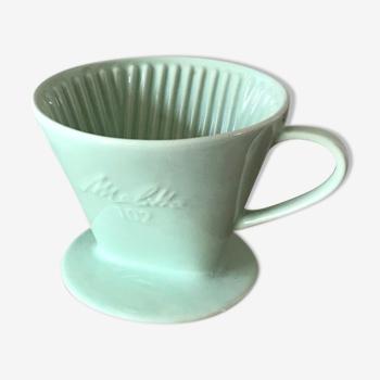 Porte filtre à café melitta vert d'eau