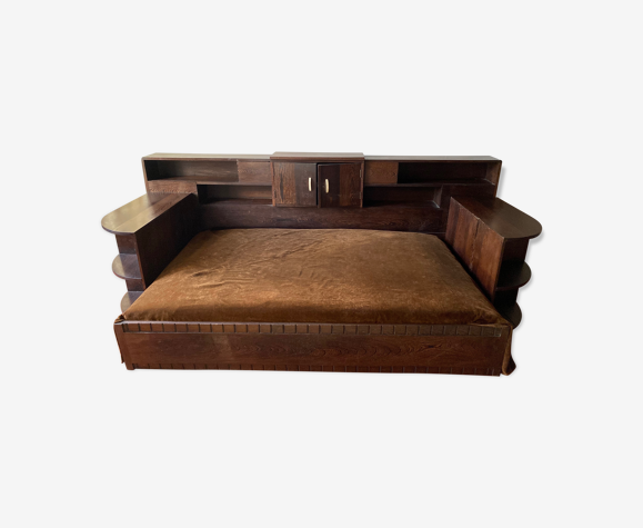 Daybed Art deco in palm wood 1930