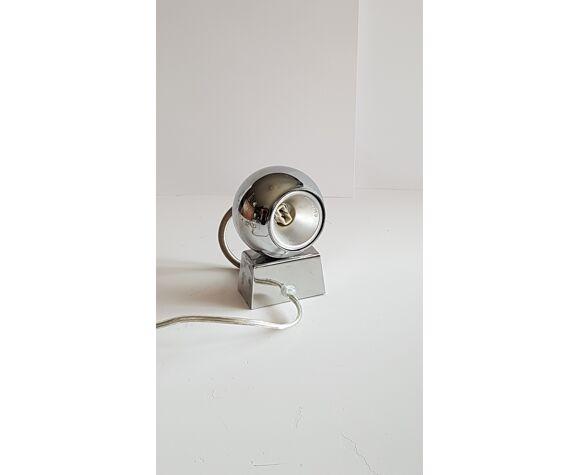 Lampe design argentée