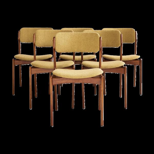 Lot de 6 chaises par Erik Buch pour OD Møbler années 1960