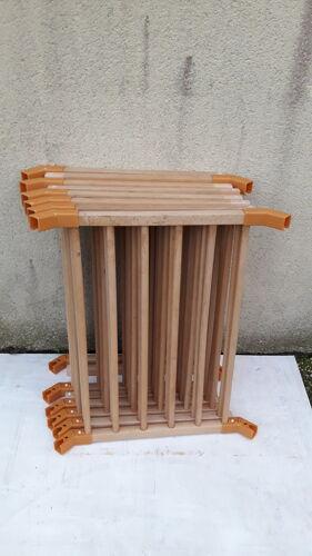 Parc en bois hexagonal avec barreaux amovibles
