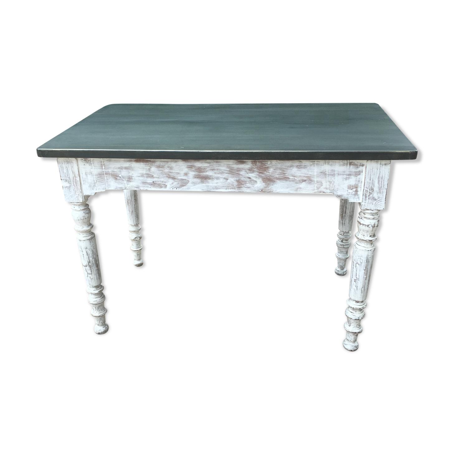 Table  plateau métal Louis Philippe