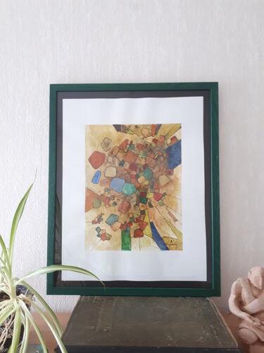 """territoires"" encre de chine et aquarelle"