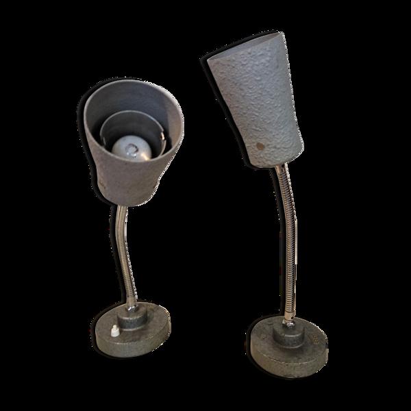 Paire de lampes diabolo années 50