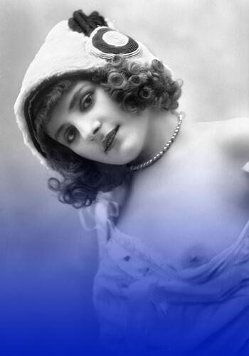 Nu photographie dos femme Belle Époque - A4 - 1920