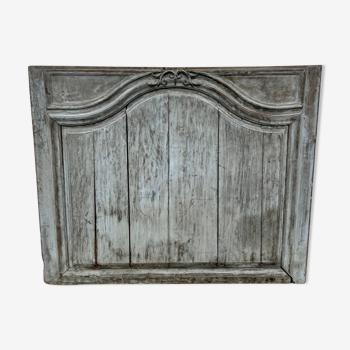 Dessus de porte trumeau bois sculpté fronton boiserie