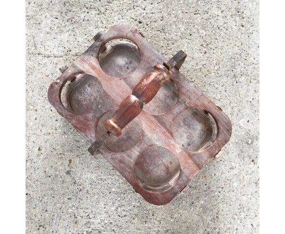 Porte bouteille en zinc et bois