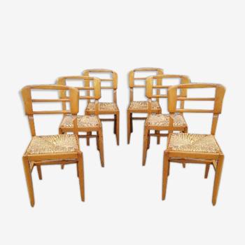 Vintage 6 chaises