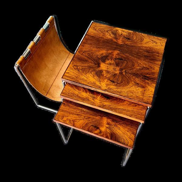 Tables gigognes Brabantia vintage avec support de magazine