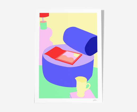 "Impression d'art ""pastel home"" - format A3"