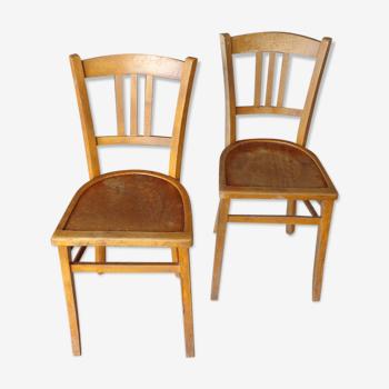 Set de 2 chaises bistrot imprimées