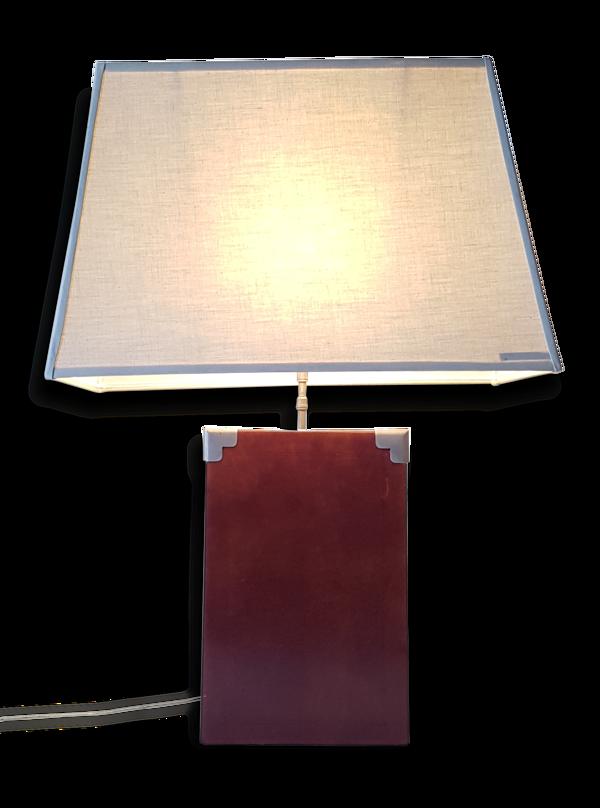 Lampe en cuir ou simili-cuir 1970 vintage 70's