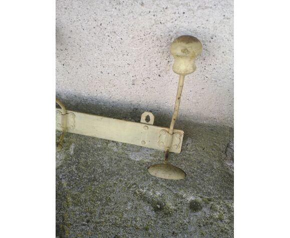 Portemanteau ancienne métal bois