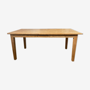 Table de ferme en bois brut