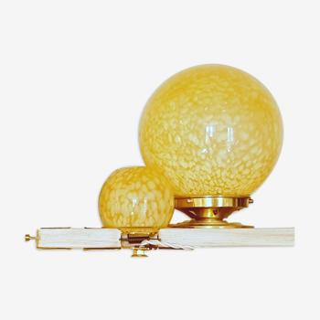 Lampe a poser globe art deco XL