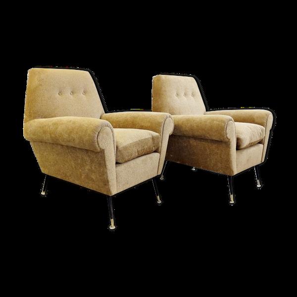 Selency Paire de fauteuils Gigi Radice Pour Minotti