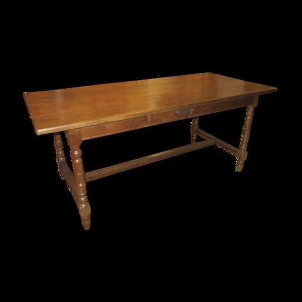 Table de ferme en chêne du XIX ième