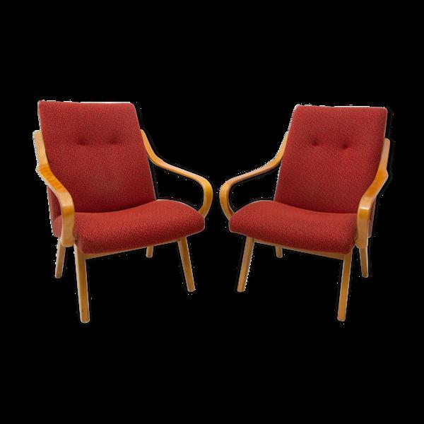 Paire de fauteuils par Jaroslav Šmídek, années 1960