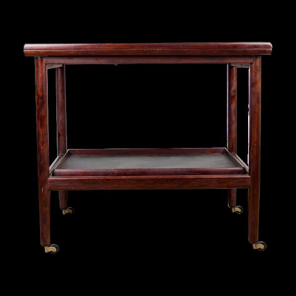 Selency Table roulante Danoise extensible et à double niveaux en Acajou par Grete Jalk pour P.Jeppesen