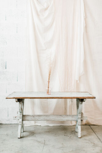 Table rustique suédoise « Waben »
